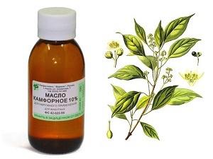 Камфорное масло для изготовления масляных компрессов